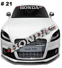 Reflective HONDA Windshield Banner Decal Racing Car Sticker For Honda