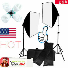 2000w Kit Photography Softbox Light Stand Photo Studio Video Continuous Light BP