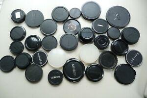 Lens caps 31 pieces OLYMPUS MIMOLTA CANON ELMO PENTAX TAMRON OSAWA TARON  .X88