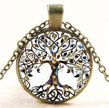 Butterfly Tower Pendant Necklace Ca4 Vintage Paris Eiffel Cabochon Glass Bronze