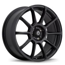 16x7.5 KONIG RUNLITE 5x100 +45 Matte Black Wheels (Set of 4)