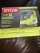 Ryobi P401 ONE+ 18-Volt Corner Cat Finish Sander/Sandpaper Assortment -Tool Only