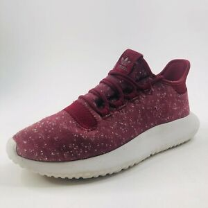 Adidas Tubular Shadow Shoes Men's 7.5 Burgundy Running Casual Athletic Trainers