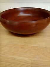 Vintage wooden  turned fruit bowl