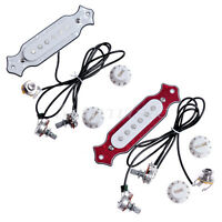 2 Sets Soundhole Electric Guitar Prewired Pickups for Acoustic Parts White Red