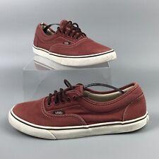Vans Borgoña para Mujer y Hombre Zapatos De Lona Zapatillas UK 8
