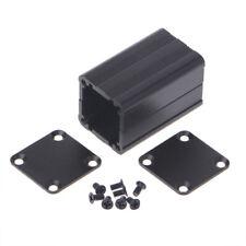 DIY Extruded Electronic Project Aluminum Enclosure Case Black 40x25x25mm