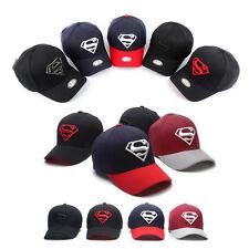 Unisex Mens Flexfit Stretch Fit WB DC Comics Superman Baseball Cap S-M M-XL  Hats 8e276f5d042a