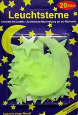 ★ 320 Leuchtsterne nachleuchtend Mond Sterne Sternenhimmel 300 20