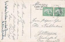 Egypt 1912 Postcard sent w Paquebot CD to Germany
