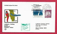 Flugpost-BRD-Lufthansa Erstflug-Frankfurt--Miami-