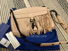 Rebecca Minkoff Mini Mac. Latte Color With Black Hardware