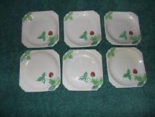 Beswick Small Strawberry Plates x 6