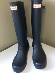 Hunter Tall Rain Boots matte Black 37/US 7