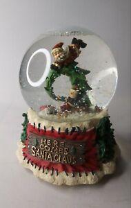 Here Comes Santa Claus Christmas Snow Globe Music Box Jingle Bells Tune