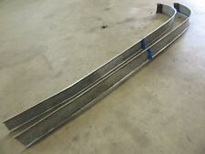 1956 Pontiac Chieftain exterior front hood waterfall trim molding pair rat rod