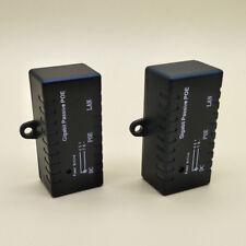 Gigabit Simple Passive PoE injector Splitter for CCTV IP Camera Networking Black