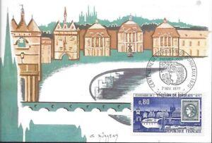 CARTE MAXIMUM - FRANCE - CENTENAIRE EMISSION DE BORDEAUX  PREMIER JOUR 1970