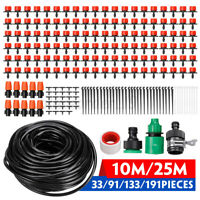 33ft / 82ft Automatic Drip Irrigation System Kit Micro Sprinkler Garden