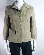 Size 4-Anthropologie-Tiny-Women Cord Jacket-Beige/tanRaw Edge Pink Thread-Blazer