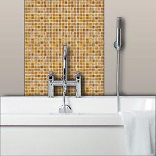 ORANGE Glass Mosaic Tiles Bathrooms Kitchens Wall Floor SAMPLE 4M-219