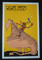 VIVA PAPI / Cuban Silkscreen Art Movie Poster by CUBA Master Artist Muñoz Bachs