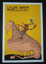 VIVA PAPI / Cuban Silkscreen Movie Poster / CUBA ART by BACHS / Fabulous Gift!