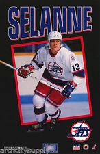 POSTER - NHL HOCKEY - TEMMU SELANNE - WINNIPEG JETS 1993 -FREE SHIPPING ! LC28 i