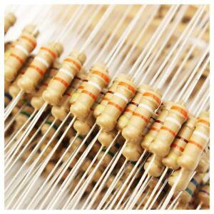 500pcs 50 Values 1/2W 0.5W 5% Carbon Film Resistors Assorted Kit Set M2A1