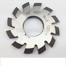 Lot 8pcs M2 20 degree 1Set  #1-8 Involute Gear Cutters HSS Module 2 Gear Cutters