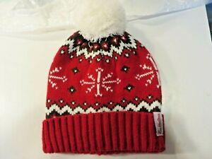 Tim Hortons Beanie Hat Toque Cap red white snowflake christmas theme