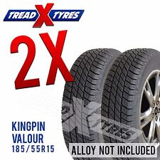 2x 185/55R15 Kingpin Tyres Two 185 55 15 Fitting Available Tyres x2