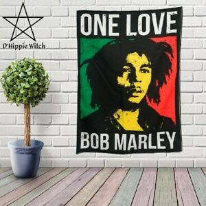 Amazing BOB MARLEY ONE LOVE Quality Tapestry Wall Hanging Hippie  Decoration