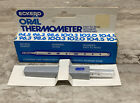 Vintage Medical Glass Fever Thermometer Oral With Case Eckerd Original Box Brazi