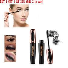 4D Silk Fiber Eyelash Mascara Extension Makeup Long Black Waterproof Eye Lashes