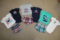 carter's 9pc.baby boy clothes lot newborn