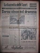 LA GAZZETTA DELLO SPORT  22/5/1976  ciclismo  la morte di Santiesteban al Giro