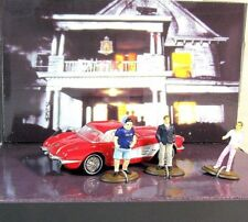 CHEVROLET CORVETTE WITH 3 FIGURES, MOVIE ANIMAL HOUSE 1978 GREENLIGHT 1:64