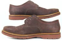 Men's Clarks 1825 Brown Suede Casual Loafers Lace Size 14 M