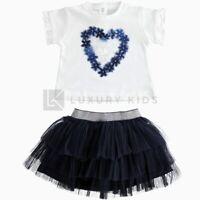 Completo con maglietta a manica corta con rouche per neonata Da 3 a 24 mesi J730