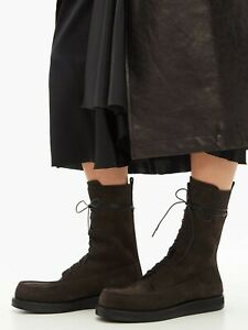 The Row Patty Boot Brown Suede 38