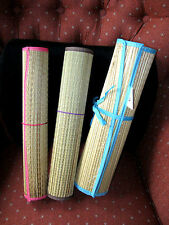 """Straw Beach Mat Large 70.5"""" x 23.5"""" Yoga Pool Sand Outdoor Bamboo Ships Free"""