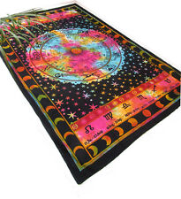 Astrology ZODIAC Tie Dye HIPPIE India Indian Wall Hanging TAPESTRY Bedspread
