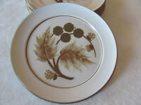 Denby/Langley-Made in England-Cotswold-Brown Plant-Dinner Plate(s)-Up to 6 Avail