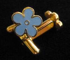 MASONIC CUFFLINKS - FORGET ME NOT - GOLD TONE ENAMEL