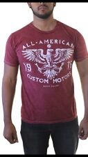 Helix All American Custom Motors Men's Distressed Red T-Shirt Size Medium NWT