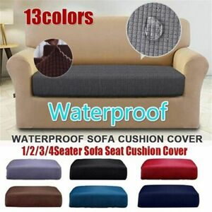 1/2/3/4 Seat Replacement Stretch Chair Sofa Seat Cover Couch Slipcover Protect