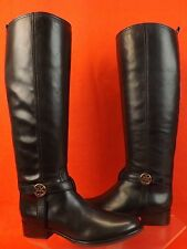 fba7a14b1 New ListingNIB TORY BURCH BRISTOL BLACK LEATHER GOLD REVA TALL HARNESS  RIDING BOOTS 8.5