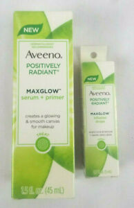 Aveeno Positively Radiant Maxglow Serum and Primer and Infusion Drops Bundle