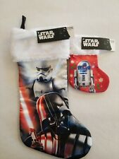 "STAR WARS  NEW CHRISTMAS STOCKING 18"" and 8"" included"